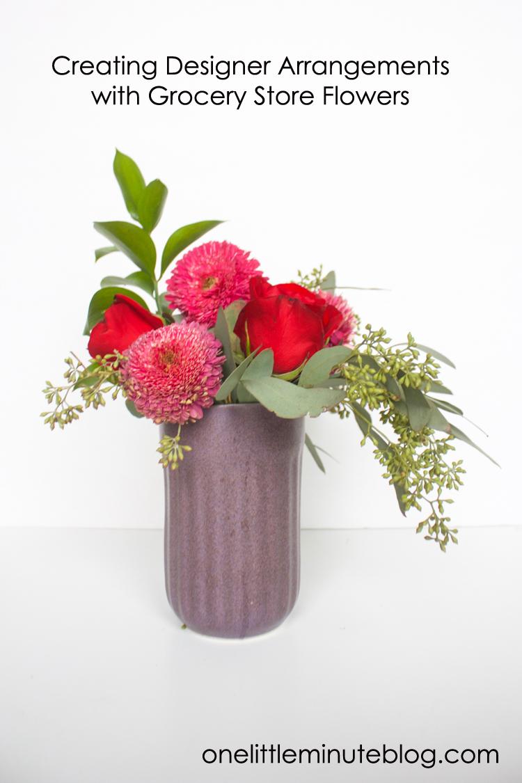 Grocery Store Flower Arrangement DIY-One Little Minute Blog-100