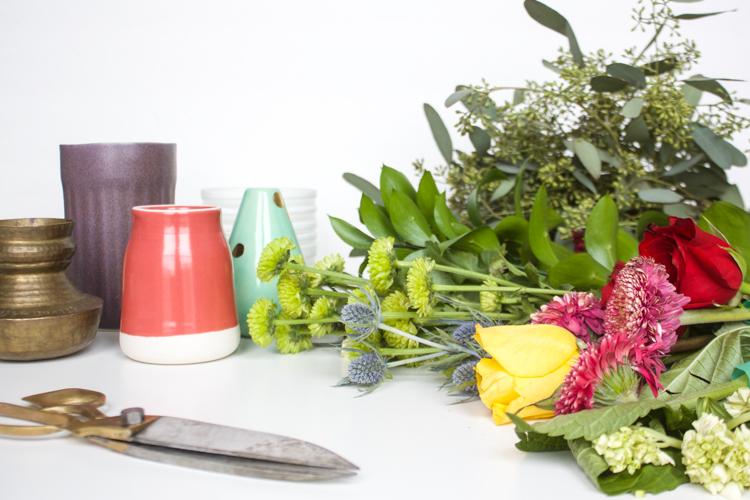 Grocery Store Flower Arrangement DIY-One Little Minute Blog-2