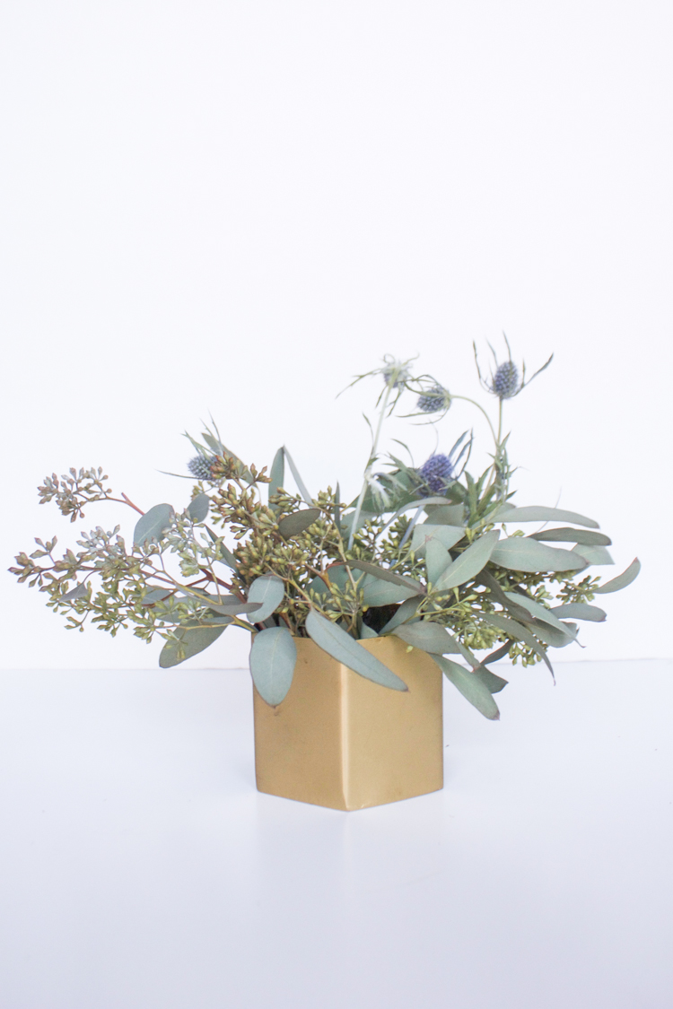 Grocery Store Flower Arrangement DIY-One Little Minute Blog-62