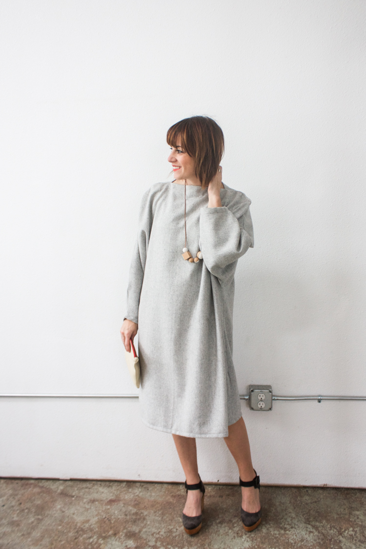 Vogue Inspired Dolman Dress-One Little Minute Blog-1