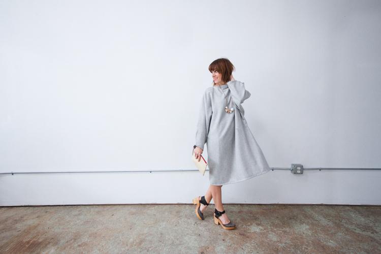 Vogue Inspired Dolman Dress-One Little Minute Blog-11