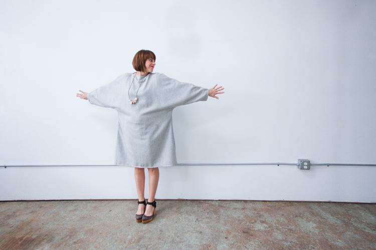 Vogue Inspired Dolman Dress-One Little Minute Blog-12