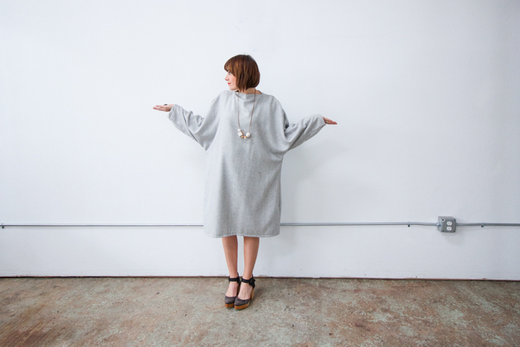Vogue Inspired Dolman Dress-One Little Minute Blog-14