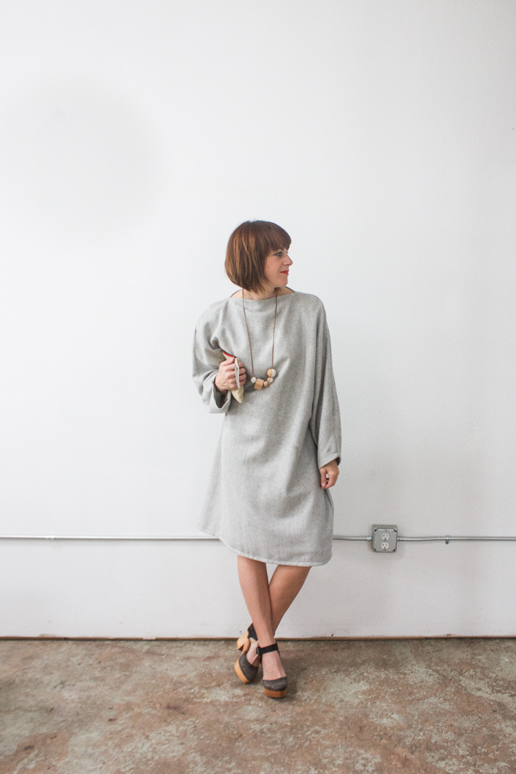 Vogue Inspired Dolman Dress-One Little Minute Blog-2