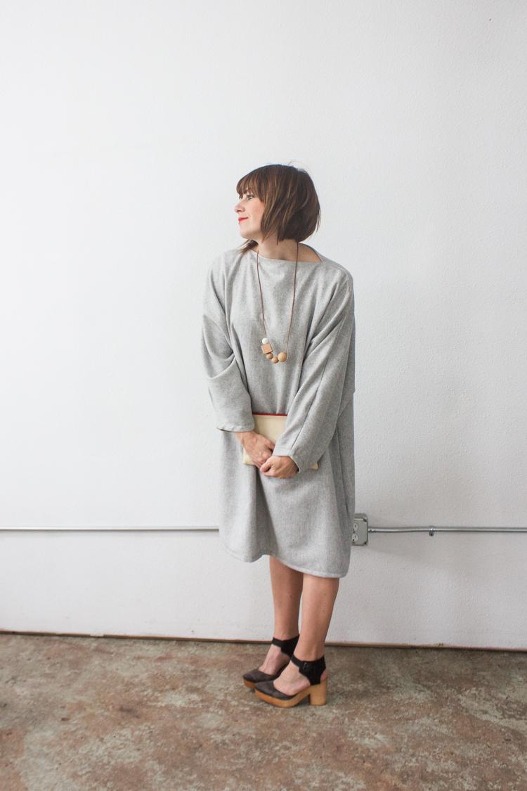 Vogue Inspired Dolman Dress-One Little Minute Blog-3