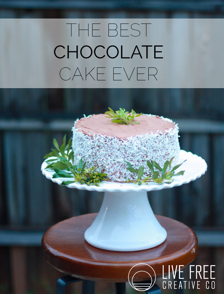 The Best Chocolate Cake Ever | Live Free Creative Co
