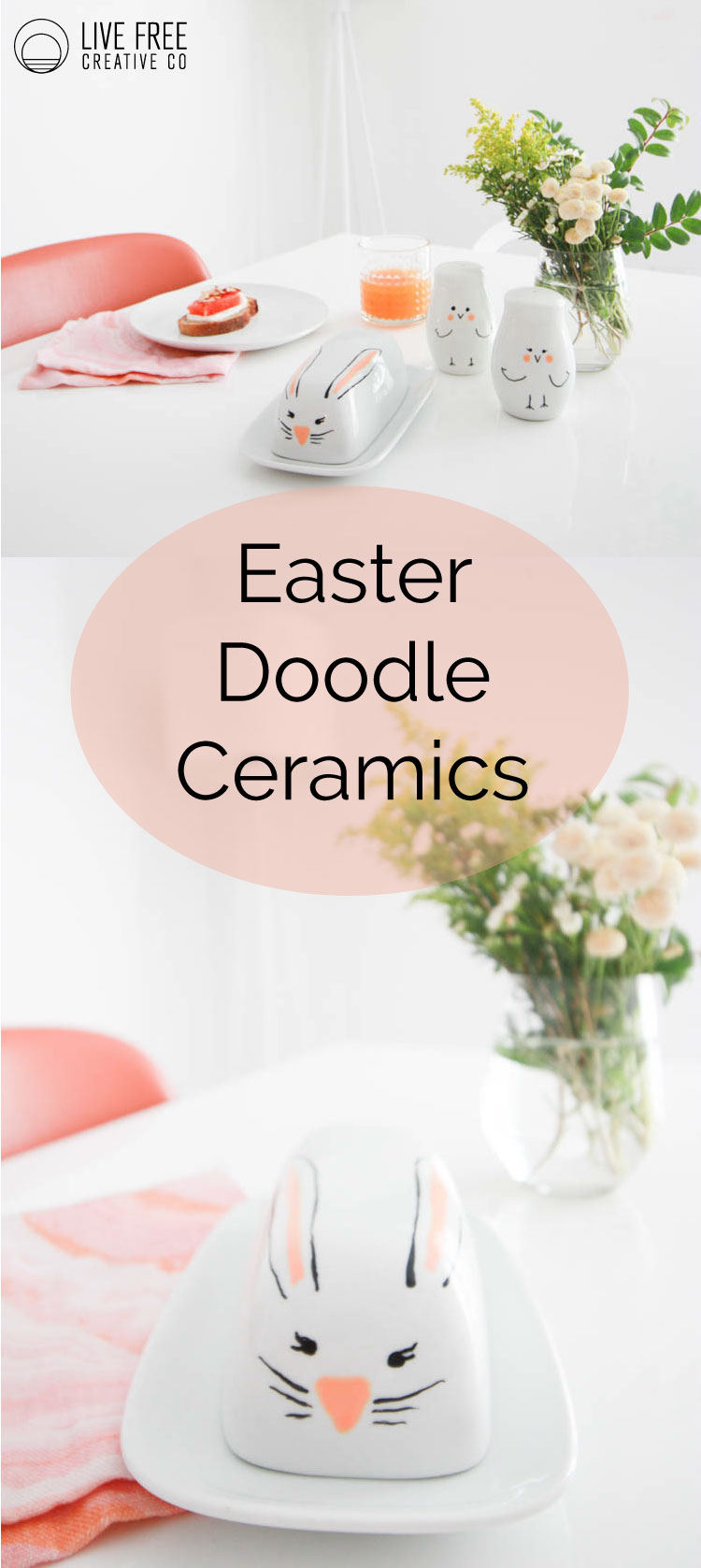 Easter Doodle Ceramics | Live Free Creative Co