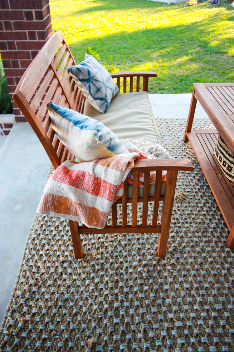 Fabulous Bringing Inside Out to the Patio One Little Minute Blog