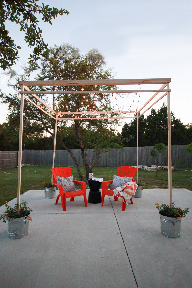 DIY Bistro Light Pergola- World Market Blog- by Miranda Anderson-14