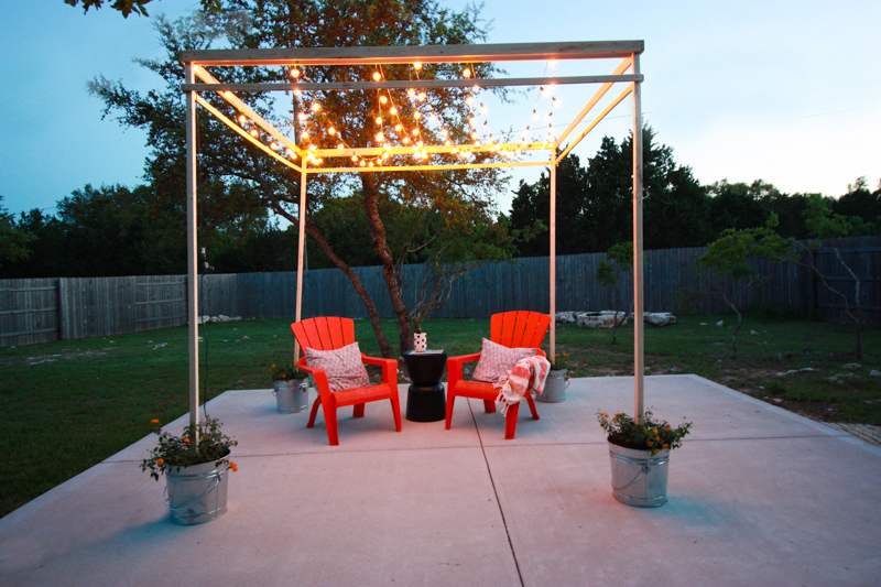 DIY Bistro Light Pergola- World Market Blog- by Miranda Anderson-22