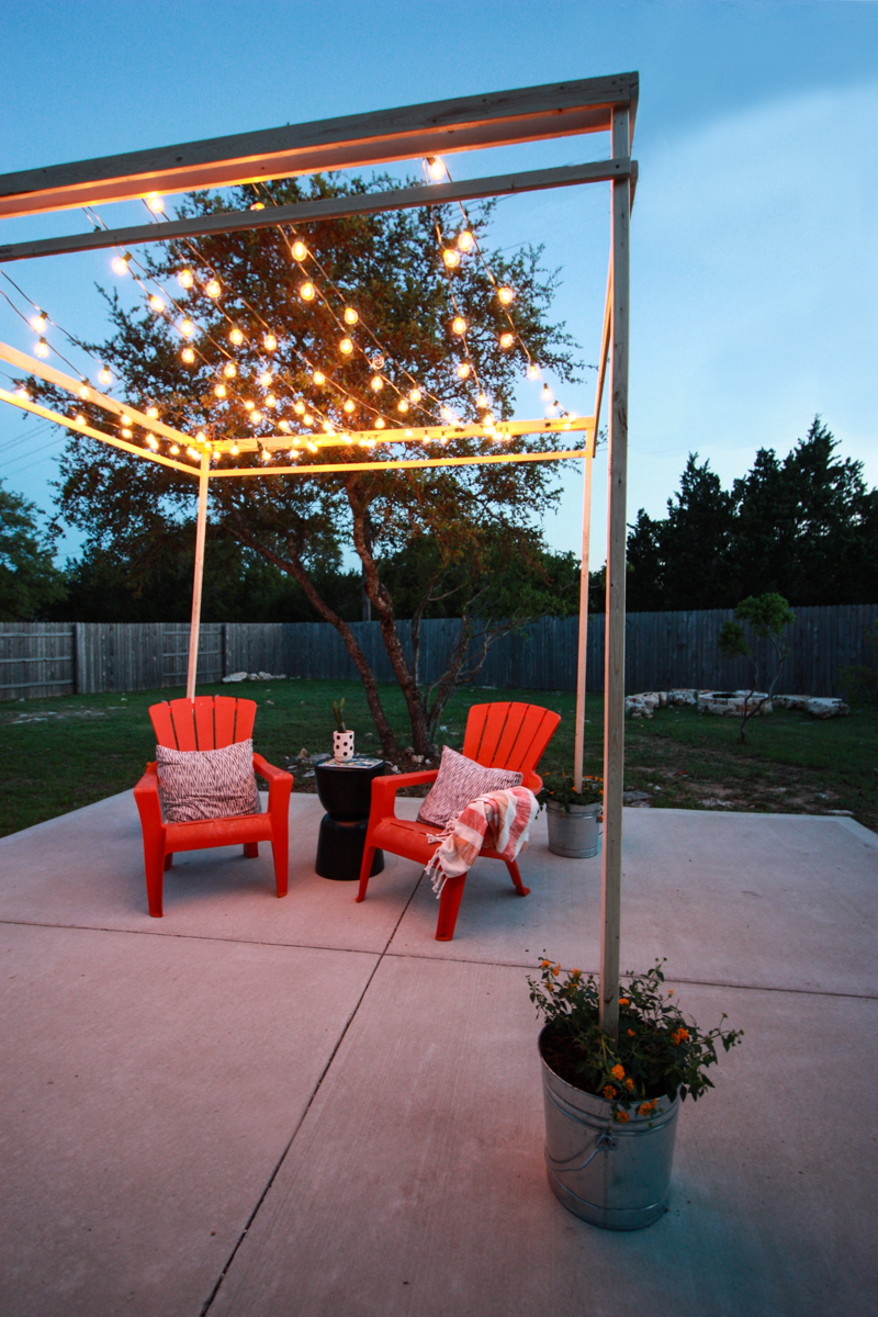 DIY Bistro Light Pergola- World Market Blog- by Miranda Anderson-24