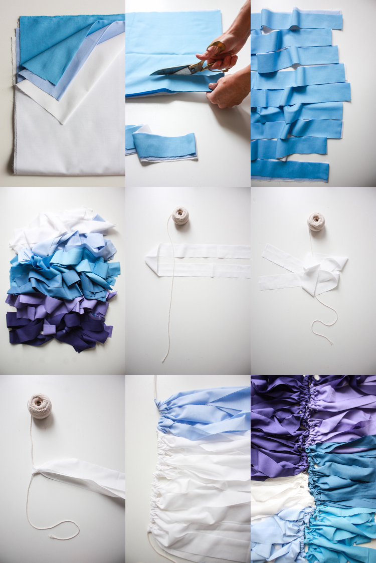DIY Ombre Fabric Banner- Miranda Anderson