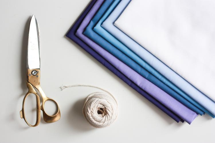 DIY Ombre Fabric Strip Banner- Miranda Anderson-1