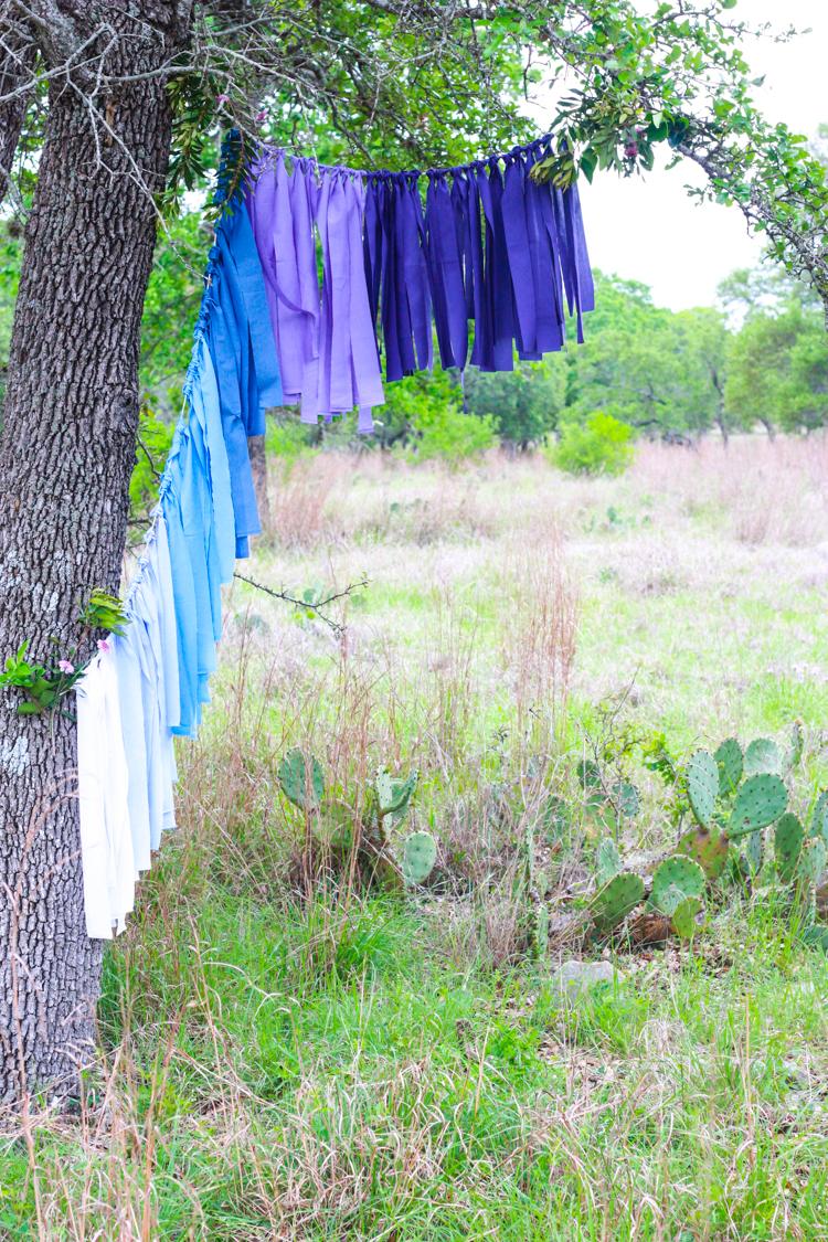 DIY Ombre Fabric Strip Banner- Miranda Anderson-3