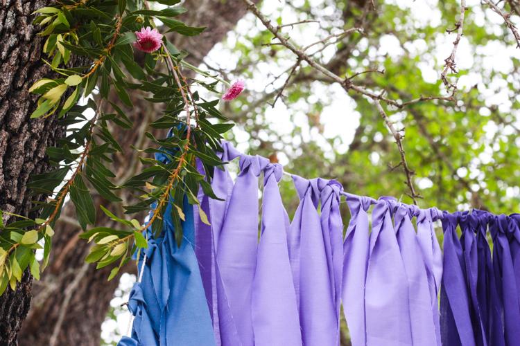 DIY Ombre Fabric Strip Banner- Miranda Anderson-5