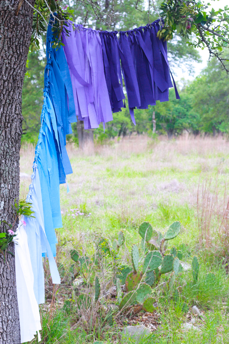 DIY Ombre Fabric Strip Banner- Miranda Anderson-6