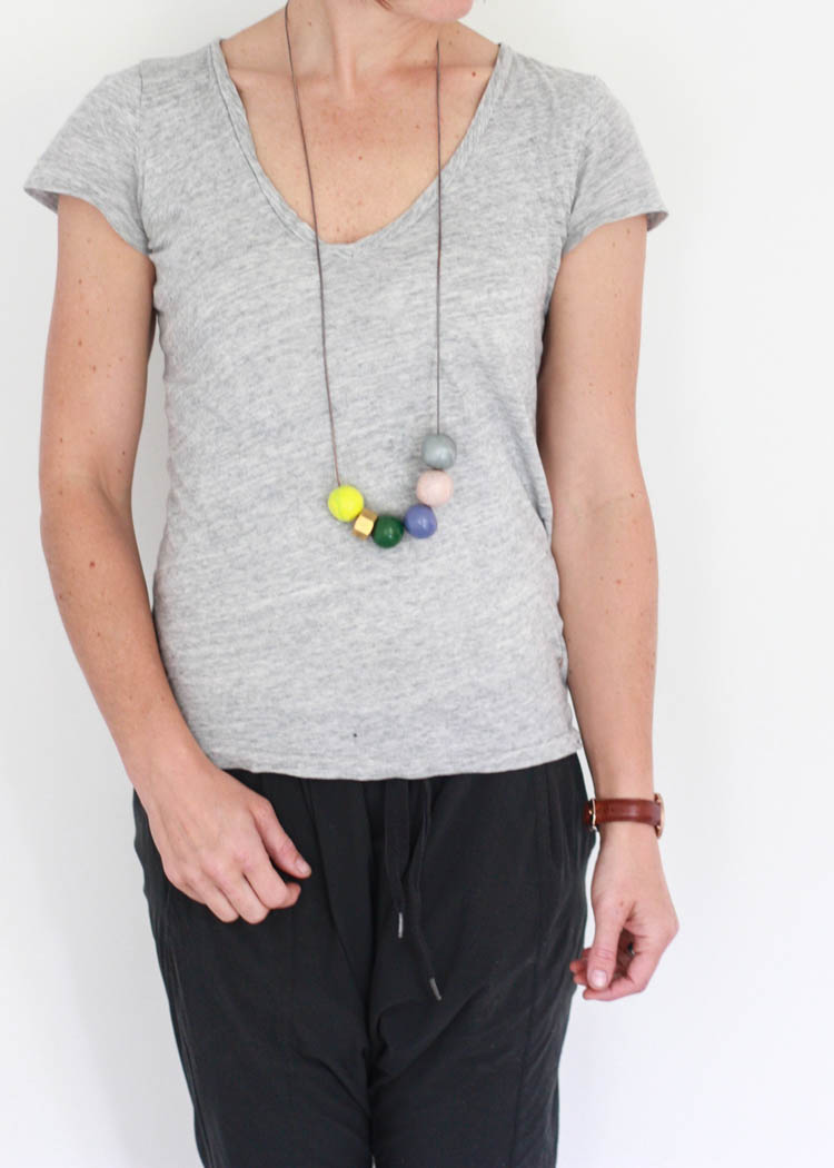 Handmade Clay Bead Necklace- One Little Minute Blog-22