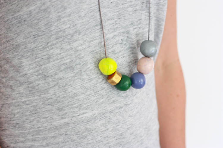Handmade Clay Bead Necklace- One Little Minute Blog-23