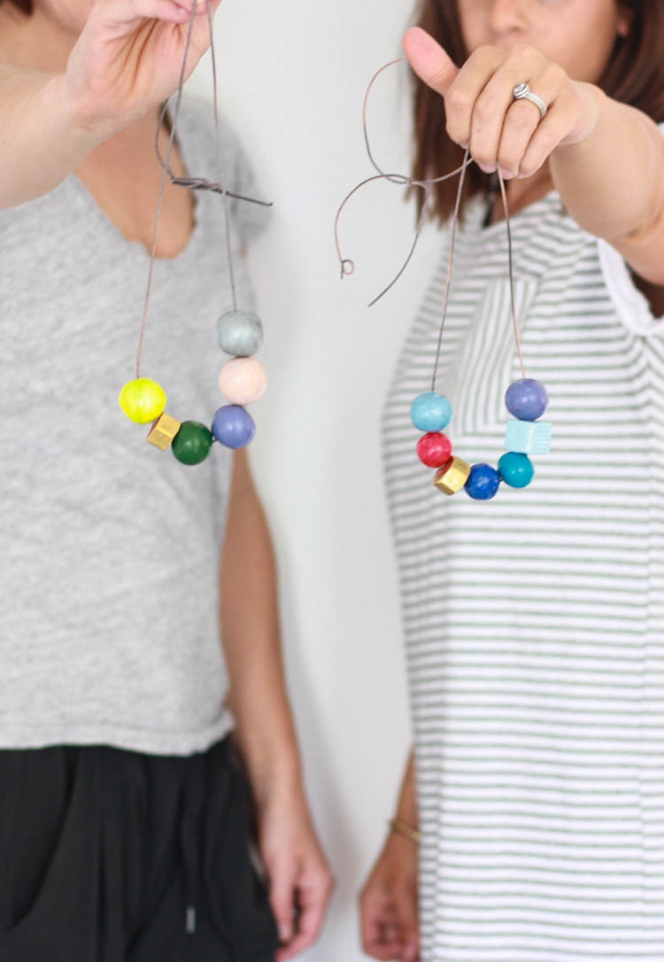 Handmade Clay Bead Necklace- One Little Minute Blog-25