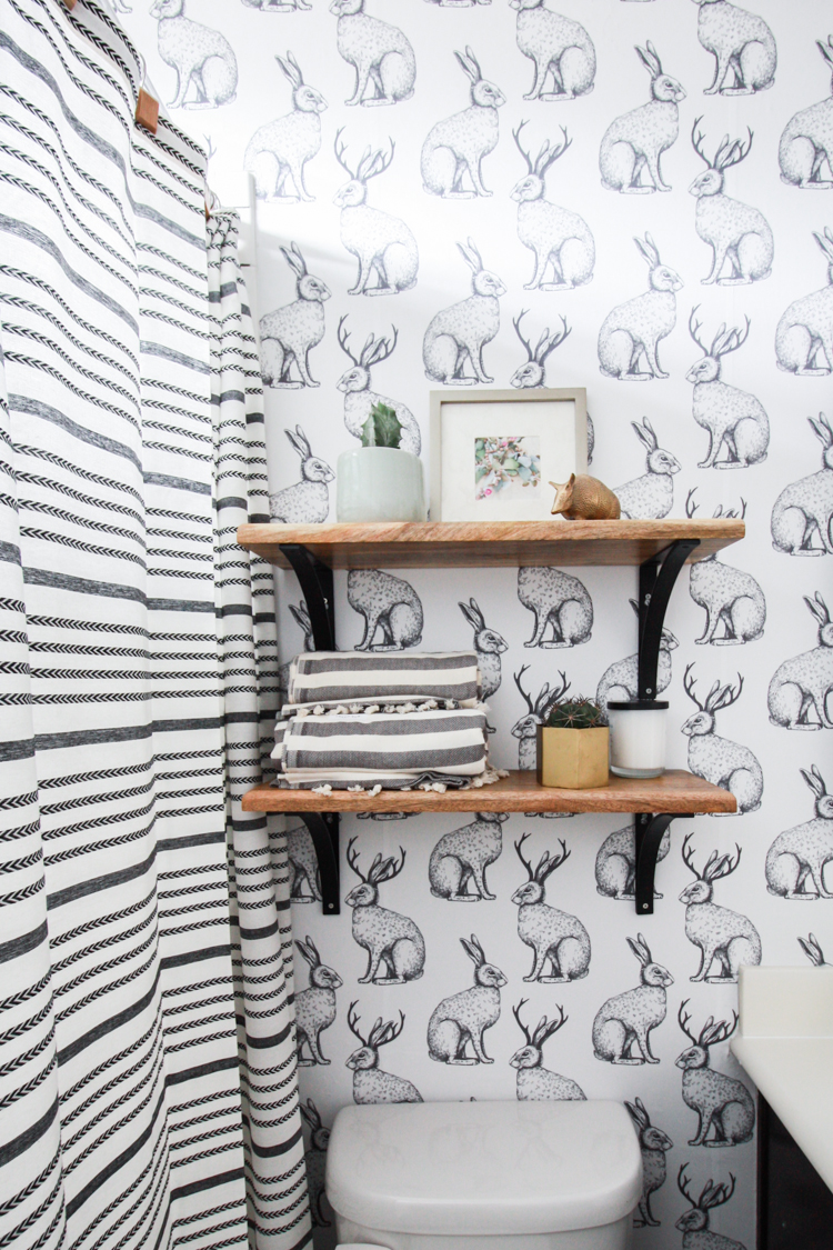 ... Jackalope Wallpaper over Textured Walls- One Little Minute Blog-26