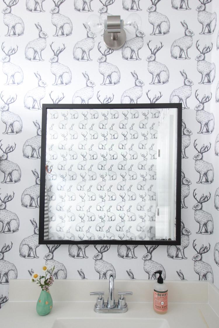 Jackalope Wallpaper Over Textured Walls One Little Minute Blog 31