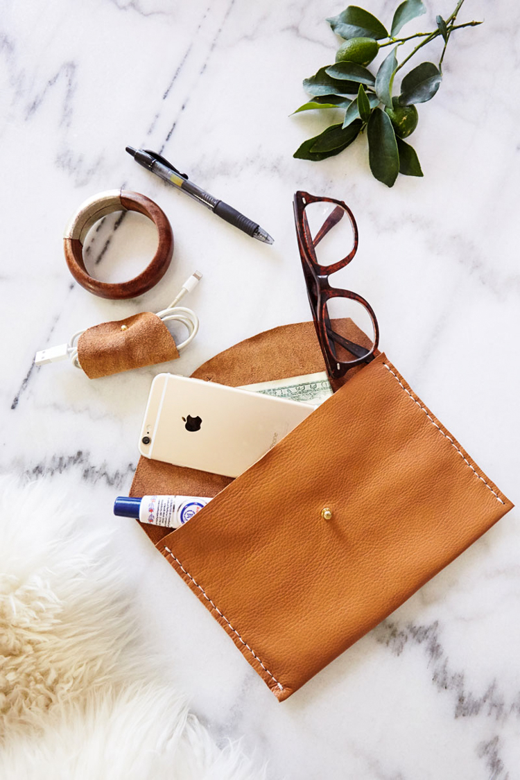 The Crafter's Box Leather Clutch DIY- One Little Minute Blog-10