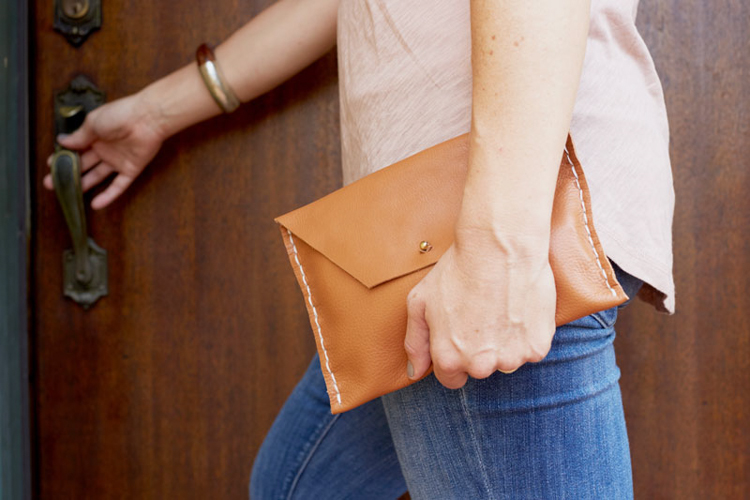 The Crafter's Box Leather Clutch DIY- One Little Minute Blog-9