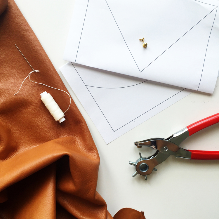 The Crafter's Box Leather Clutch DIY- One Little Minute