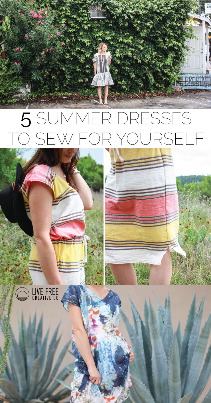 5 Summer Dresses to Sew For Yourself- Live Free Creative Co