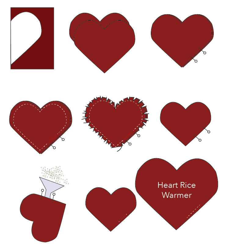 Heart Rice Warmer Pattern DIY-02