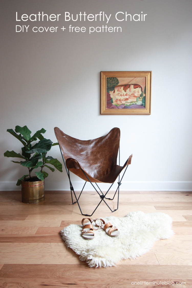 Leather Butterfly Chair Cover DIY- One Little Minute Blog-13