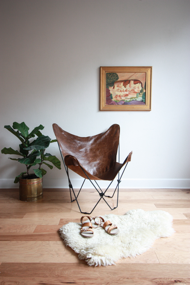 Leather Butterfly Chair Cover DIY- One Little Minute Blog-14