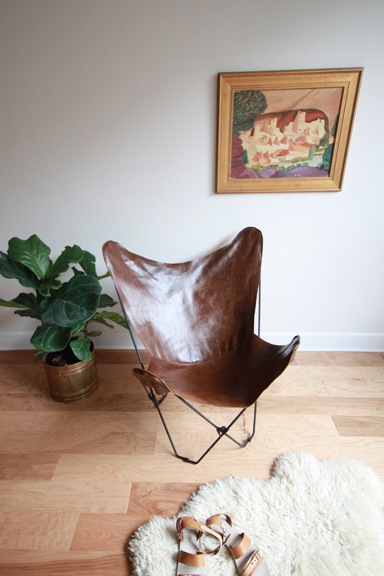 Leather Butterfly Chair Cover DIY- One Little Minute Blog-19
