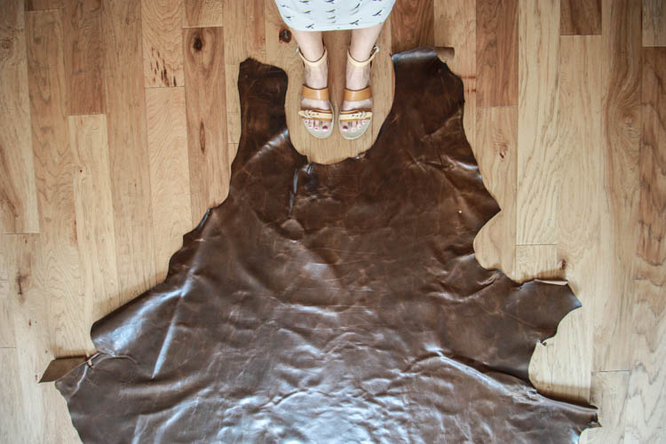 Leather Butterfly Chair Cover DIY- Pub Chocolate Leather- One Little Minute Blog-1
