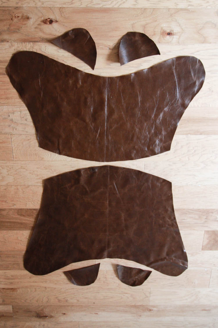 Leather Butterfly Chair Cover DIY- Pub Chocolate Leather- One Little Minute Blog-2