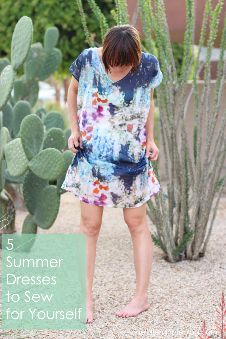 5 Summer Dresses to Sew for Yourself - One Little Minute Blog