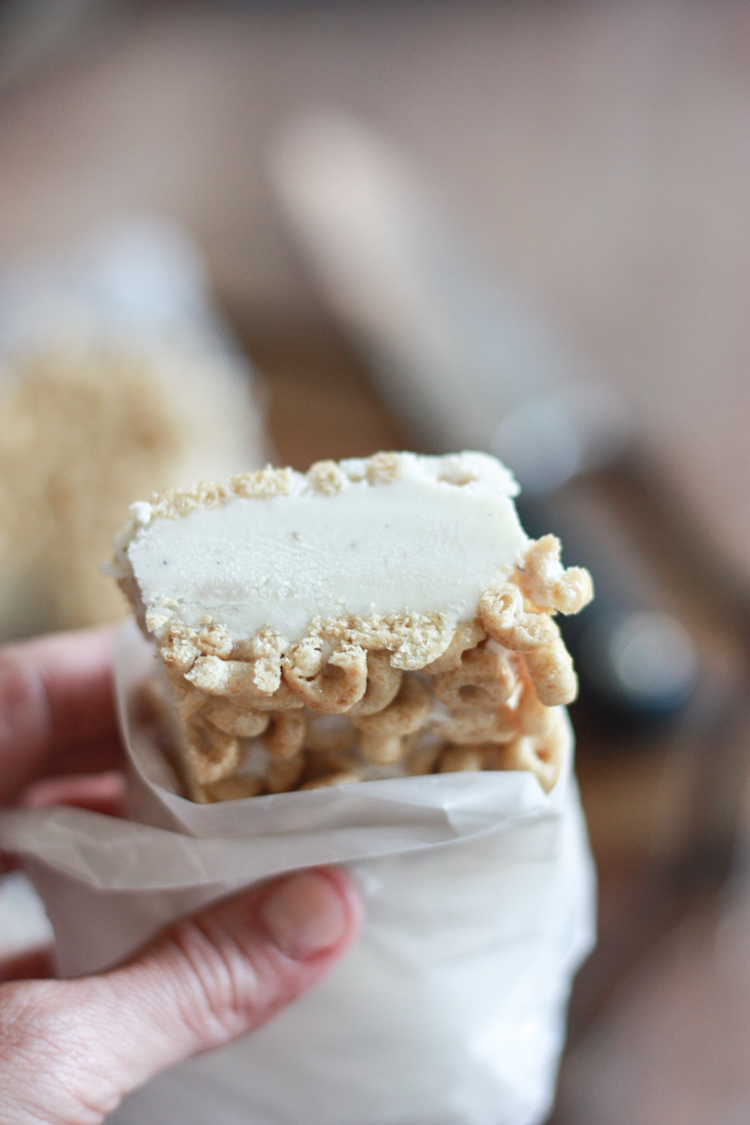 Cheerios Ice Cream Bars - One Little Minute Blog-11