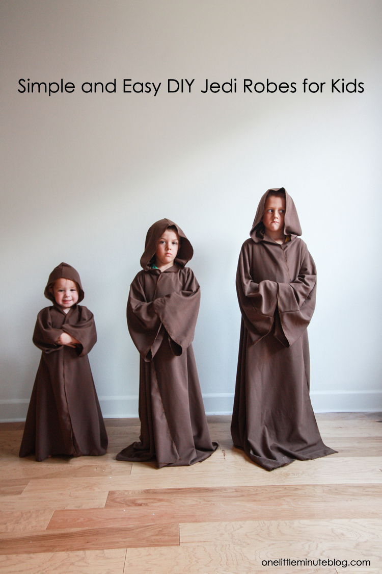Diy Jedi Robe For Kids Perfect Star Wars Costume