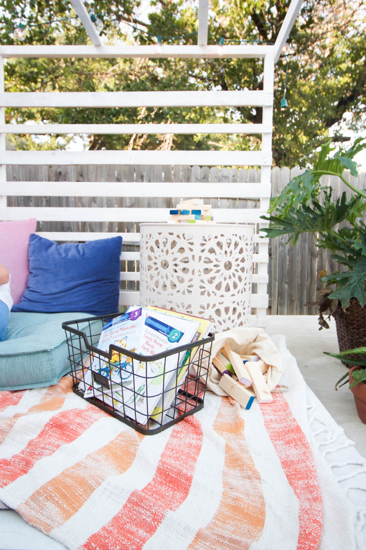 Outdoor Reading Nook - One Little Minute Blog-10
