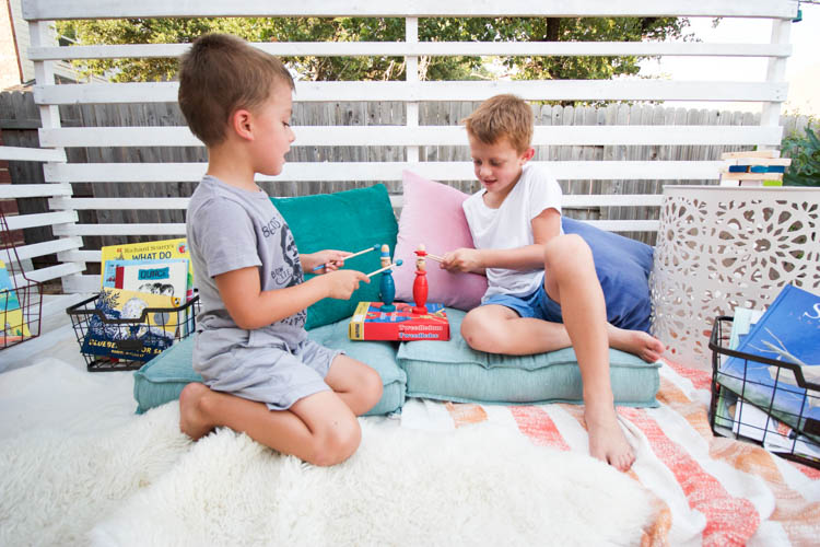 Outdoor Reading Nook - One Little Minute Blog-12