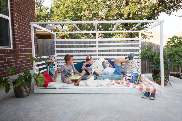 Outdoor Reading Nook - One Little Minute Blog-3