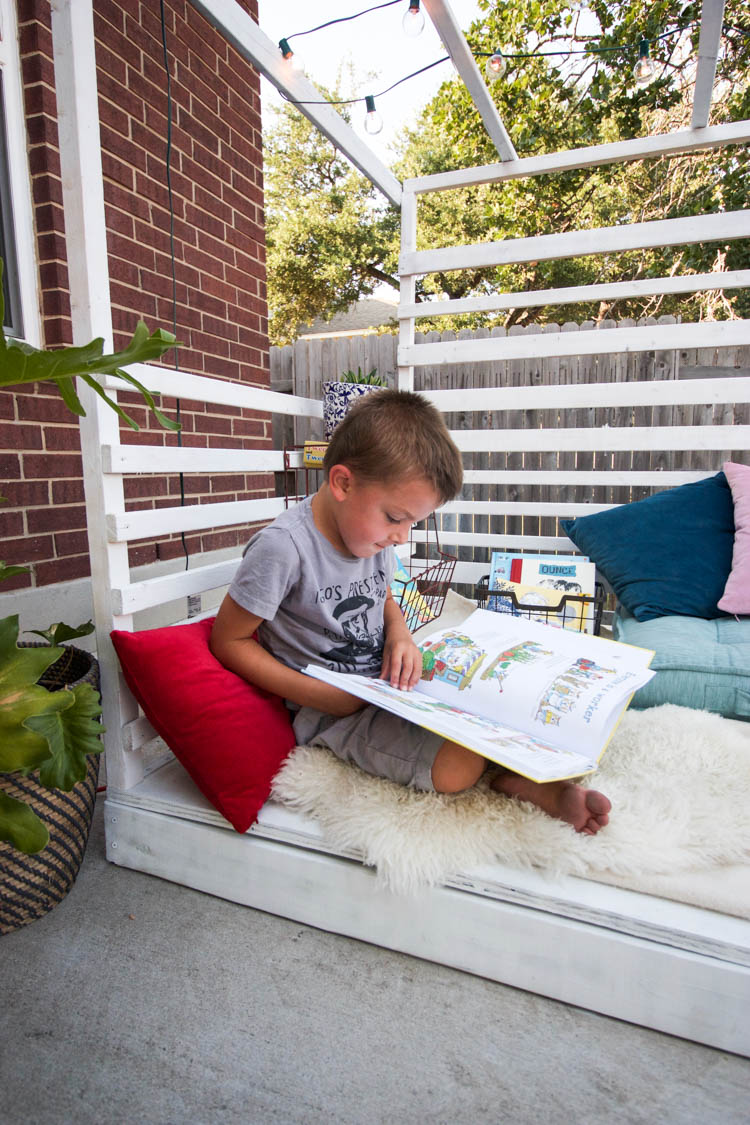 Outdoor Reading Nook - One Little Minute Blog-4