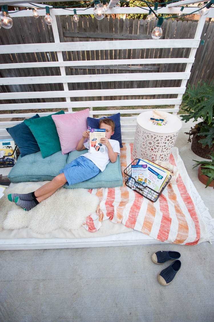 Outdoor Reading Nook - One Little Minute Blog-8