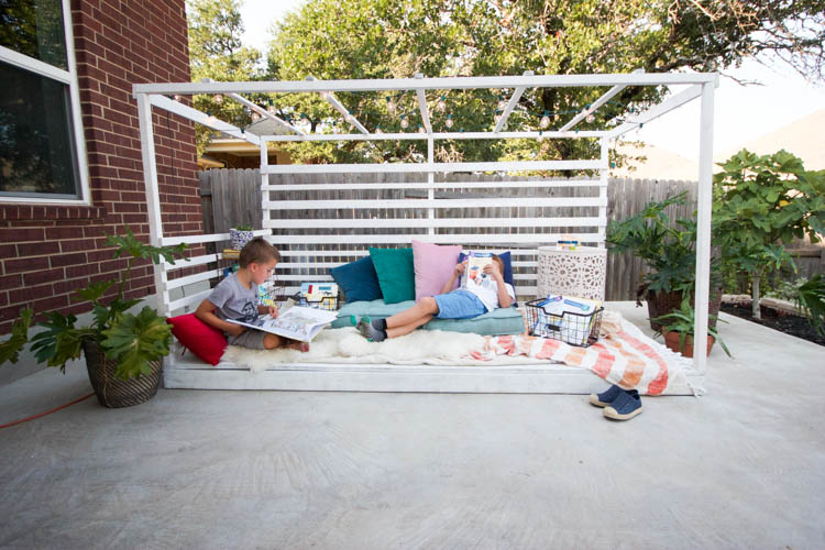 Outdoor Reading Nook - One Little Minute Blog-9