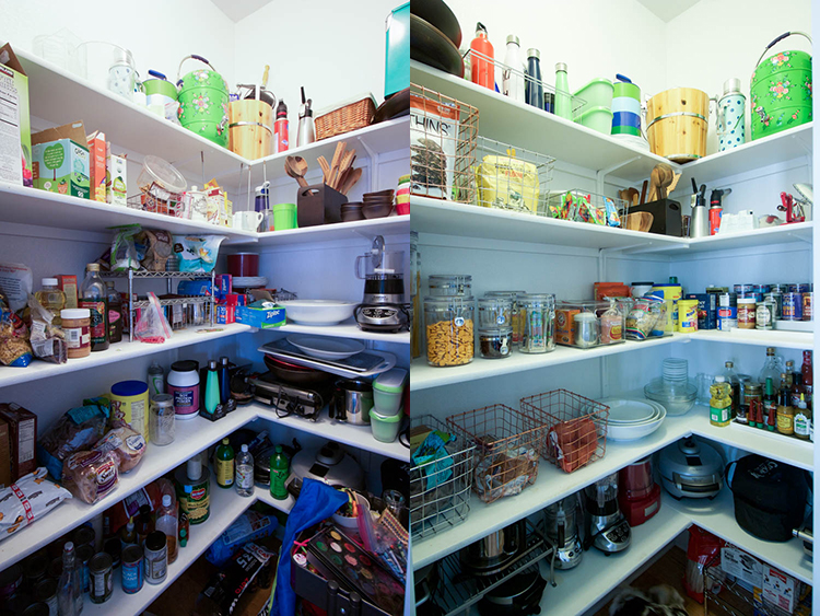 Practical Pantry Organization Before and After