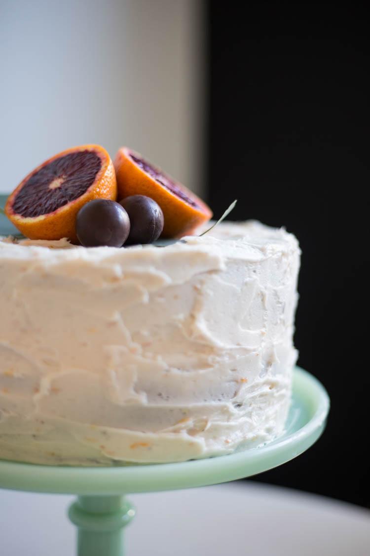 Blood Orange Chocolate Cake with Blood Orange Buttercream. So pretty.