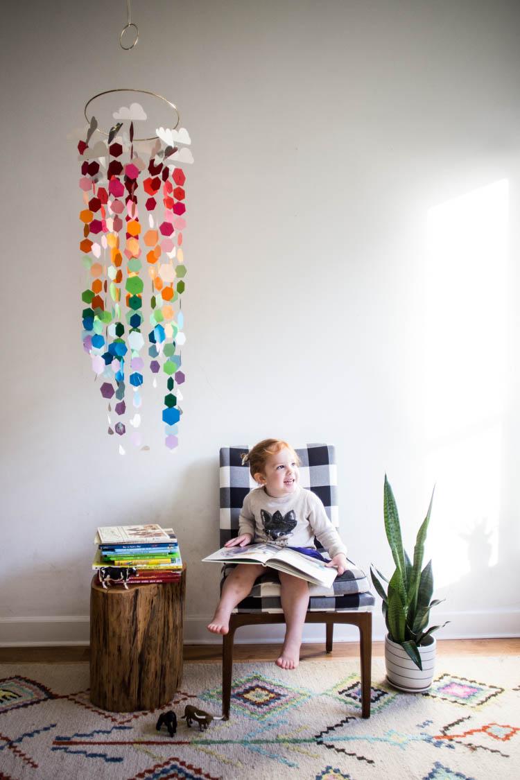 Paper Rainbow Mobile Diy Live Free Creative Company
