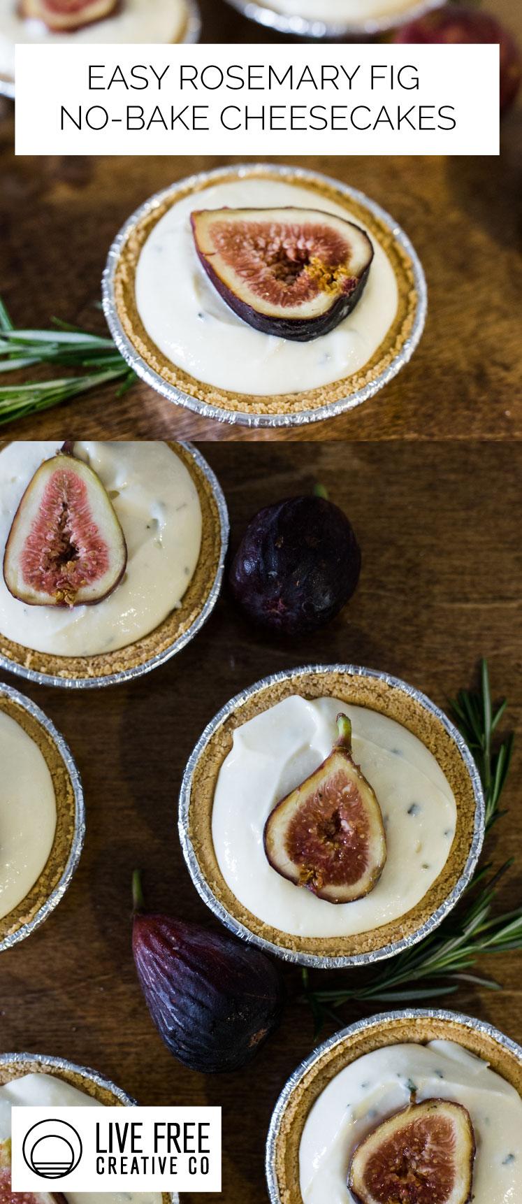 Easy No Bake Fig Cheesecake | Live Free Creative Co