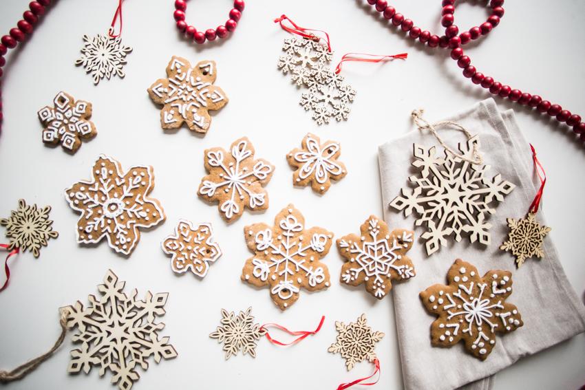 Gingerbread Snowflake Ornaments Live Free Creative Co