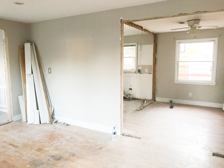They Built Support Walls On Either Side Of The Load Bearing Wall To Ceiling While Took Out Former 4 Foot Long Header And Studs